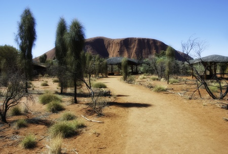 Bright and Sunny Day in the Australian Outback photo
