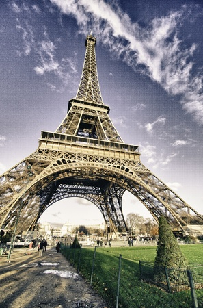 Colors of Eiffel Tower in Winter, Paris Stock Photo - 12212700