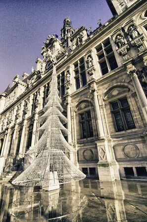 Architectural Detail of Paris in Winter, France