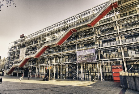 red centre: Centre Pompidou in Paris, France