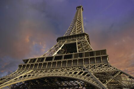 Eiffel Tower from Below in Paris, France Stock Photo - 12209210