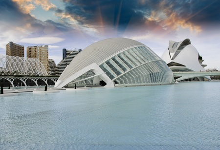 Modern Buildings of Valencia, Spain
