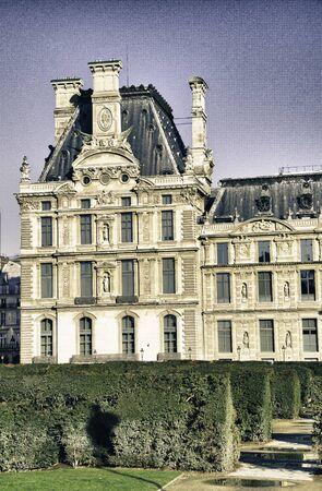 Facade of Louvre Building in Paris