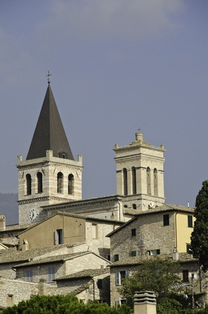 Detail of Spello in Umbria, Italy