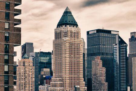 u s a: Skyscrapers of New York City in Winter, U S A