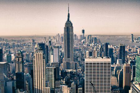 imperium: Wolkenkrabbers van New York City in de winter, de VS