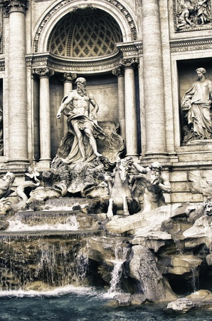 Colors of Trevi Fountain in Rome, Italy Stock Photo - 12894911