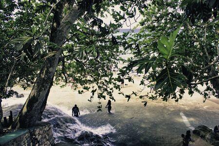 Dunn River Waterfalls in Ocho Rios, Jamaica photo