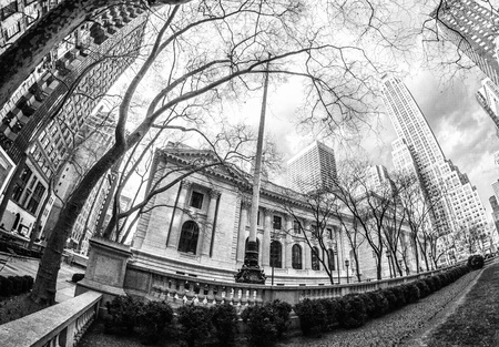 New York Public Library and Surrounding Skyscrapers, U.S.A. Stock Photo - 13203896