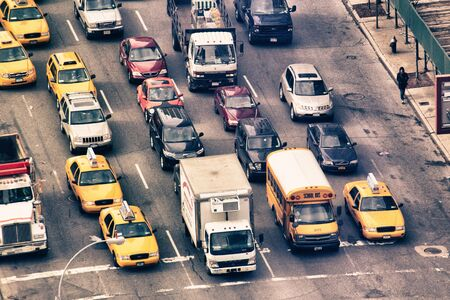 Traffic in New York City, U.S.A.