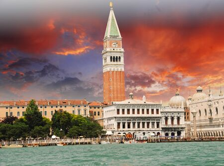 St Marks Square from the Sea in Venice, Italy photo