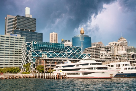 Sydney Skyscrapers from the Sea, Australia photo