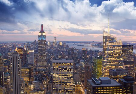 u s a: Amazing view to New York Manhattan - U S A