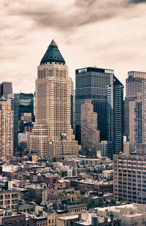 city living: Bottom-Up view of New York City Skyscrapers, U.S.A.
