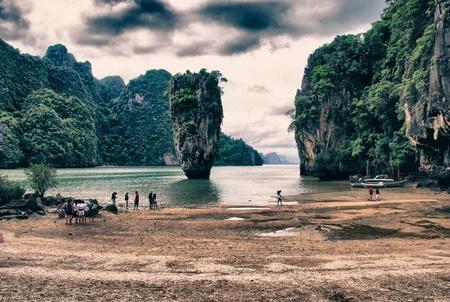 Nature and Vegetation of James Bond Island, Thailand photo
