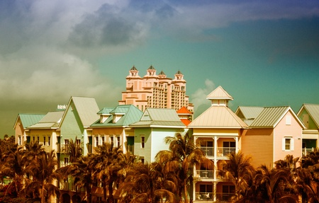 Colors of Nassau, the Bahamas Stock Photo