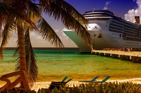 Turquoise Waters of Grand Turk Sea, Caribbean