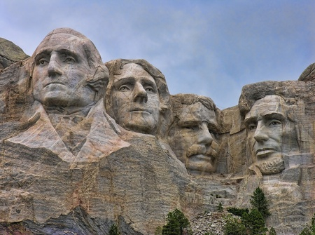 south dakota: Detail of Mount Rushmore, South Dakota, August 2005