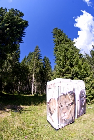 Public Restrooms in the heart of Dolomites, Italy photo