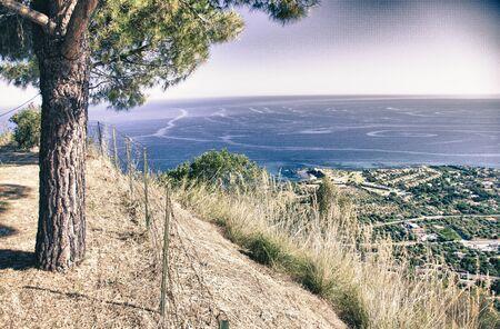 palmy: Sicily Coastline and Sea, Italy Stock Photo