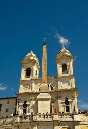 Piazza di Spagna and Trinita dei Monti in Rome, Italy photo