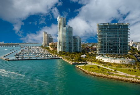 Miami Beach Coast in Florida, U.S.A. Stock Photo