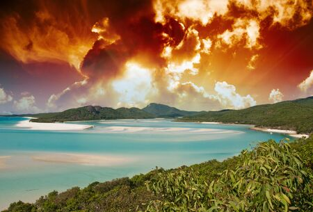 Colors of Whitehaven Beach in the Whitsundays Archipelago, Australia