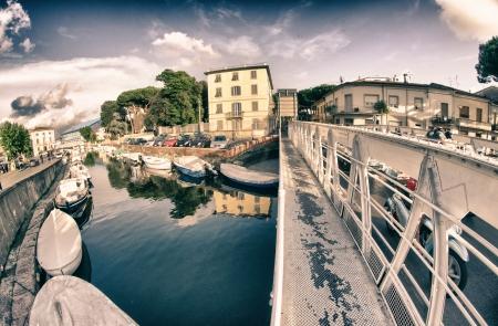 viareggio: Bridge in Viareggio Darsena, Italy