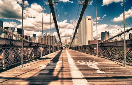Brooklyn Bridge view in New York City
