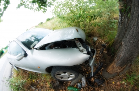 Car Accident against a Tree, Italy photo