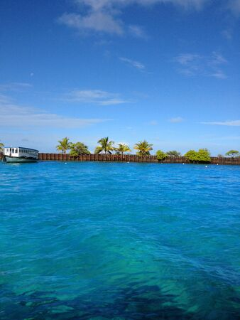 Color of Water in Maldives Islands photo