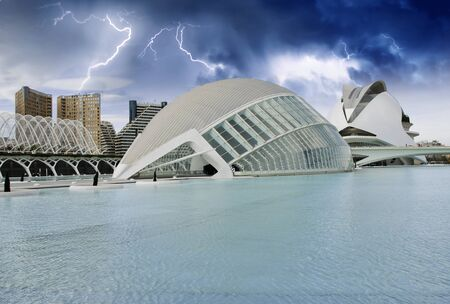 Sky Colors over Modern Buildings of Valencia, Spain Stock Photo - 14375328