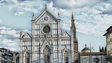 Basilica of Santa Croce in Florence, Italy photo