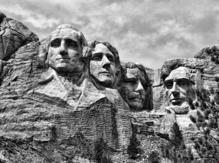 Detail of Mount Rushmore, South Dakota, August 2005