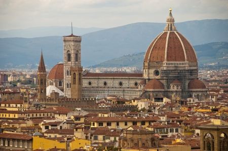 Piazza del Duomo in Florence, Italy Stock Photo