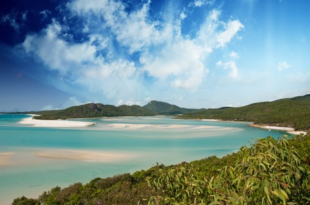 Sky Colors of Whitehaven Beach in the Whitsundays Archipelago, Australia
