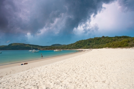 airlie: Colors of Whitehaven Beach in the Whitsundays Archipelago, Australia