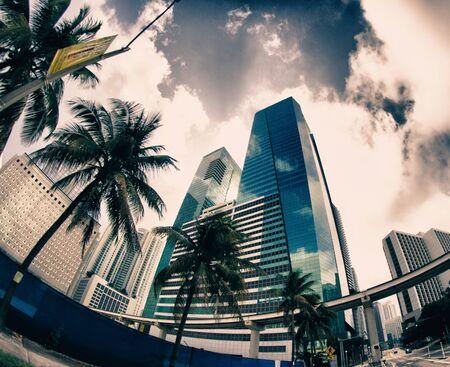 Miami Roads in Winter, U.S.A. Stock Photo