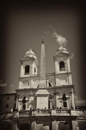 Piazza di Spagna and Trinita' dei Monti in Rome, Italy Stock Photo - 19044776