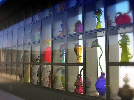 tacoma: Glass Exibition in Tacoma, Washington, USA Editorial