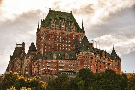 the majesty: Majesty of Chateau de Frontenac, bottom view, Quebec City Editorial