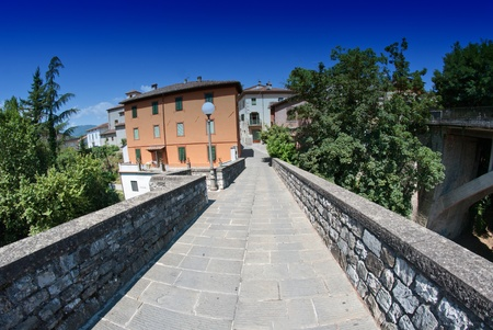 Barga, a small town of Tuscany, Italy photo