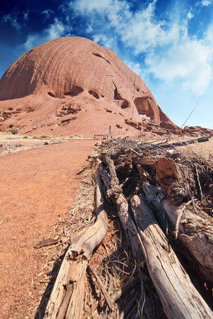tjuta: Mountains of Australian Outback in Northern Territory Stock Photo