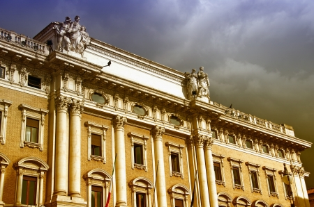 Architecture in Piazza Colonna, Rome, Italy photo