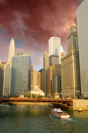 River and Architecture of Chicago, U.S.A. photo