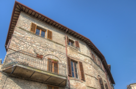Old Architecture in Spello, Umbria - Italy photo