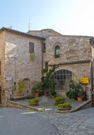 spello: Architectural Detail of Spello, Italy Stock Photo