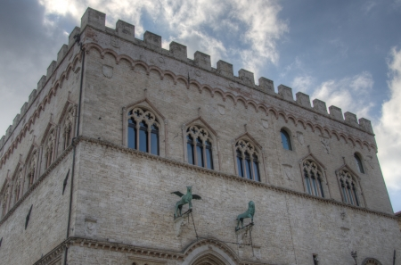 spello: Old Architecture in Spello, Umbria - Italy Stock Photo