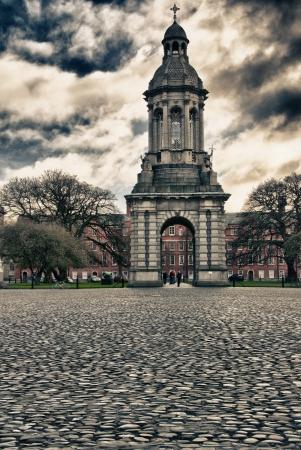 Trinity College Architecture in Dublin, Ireland