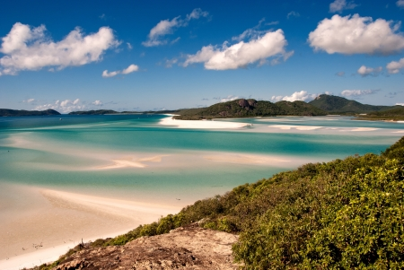 Whitehaven Beach in the Whitsundays Archipelago, Queensland, Australia Stock Photo